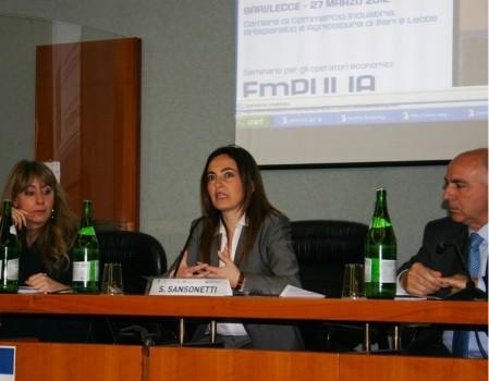 il presidente di InnovaPuglia S.p.A. dott.ssa Sabrina Sansonetti