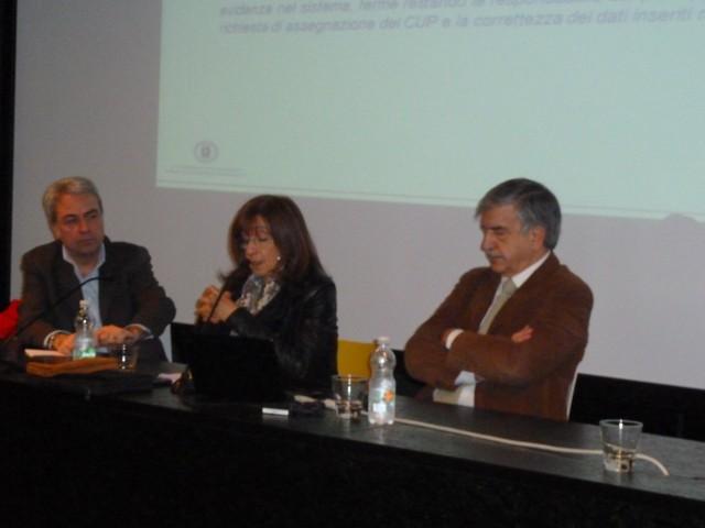 Da sinistra: dott. Nicola Lopane, Arch. Gemma Gigli, Ing. Vittorio Pujia.  ©Liberti