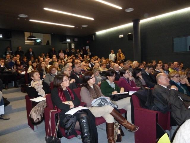 Panoramica dal basso della sala durante il seminario CUP. ©Liberti